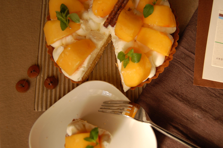 柿とクリームチーズのタルト